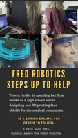FRED ROBOTICS STEPS UP TO HELP!