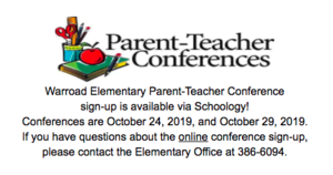 Warroad Elementary Parent-Teacher Conferences