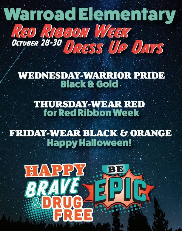 Red Ribbon Week Dress Up Days