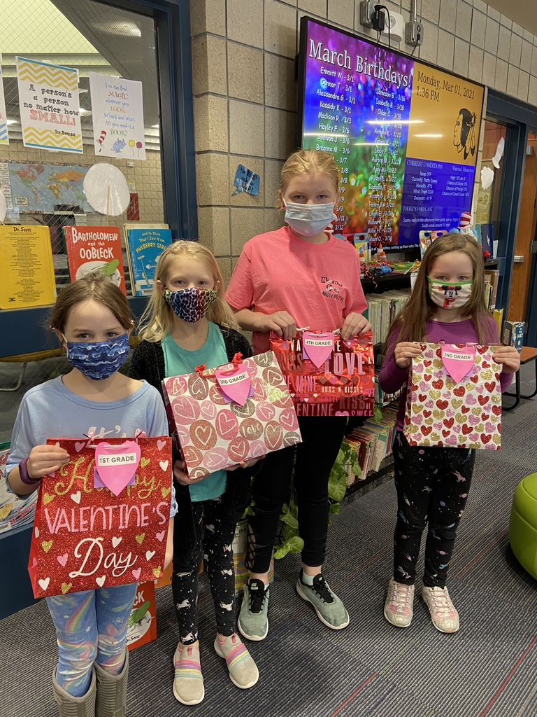 Valentine reading winners