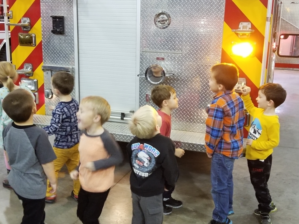 pre-K and fire truck