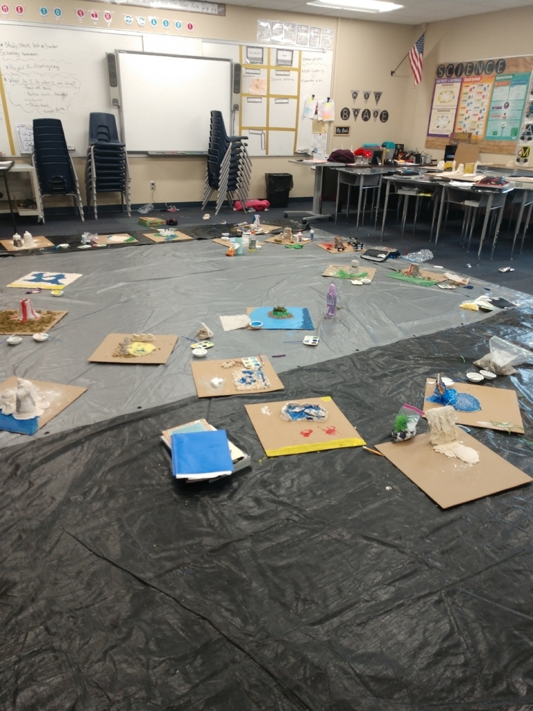 classroom at large with land forms