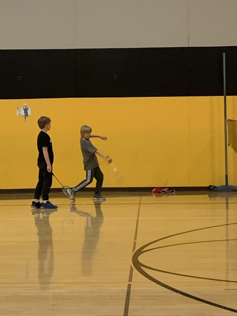 Elementary physical education class
