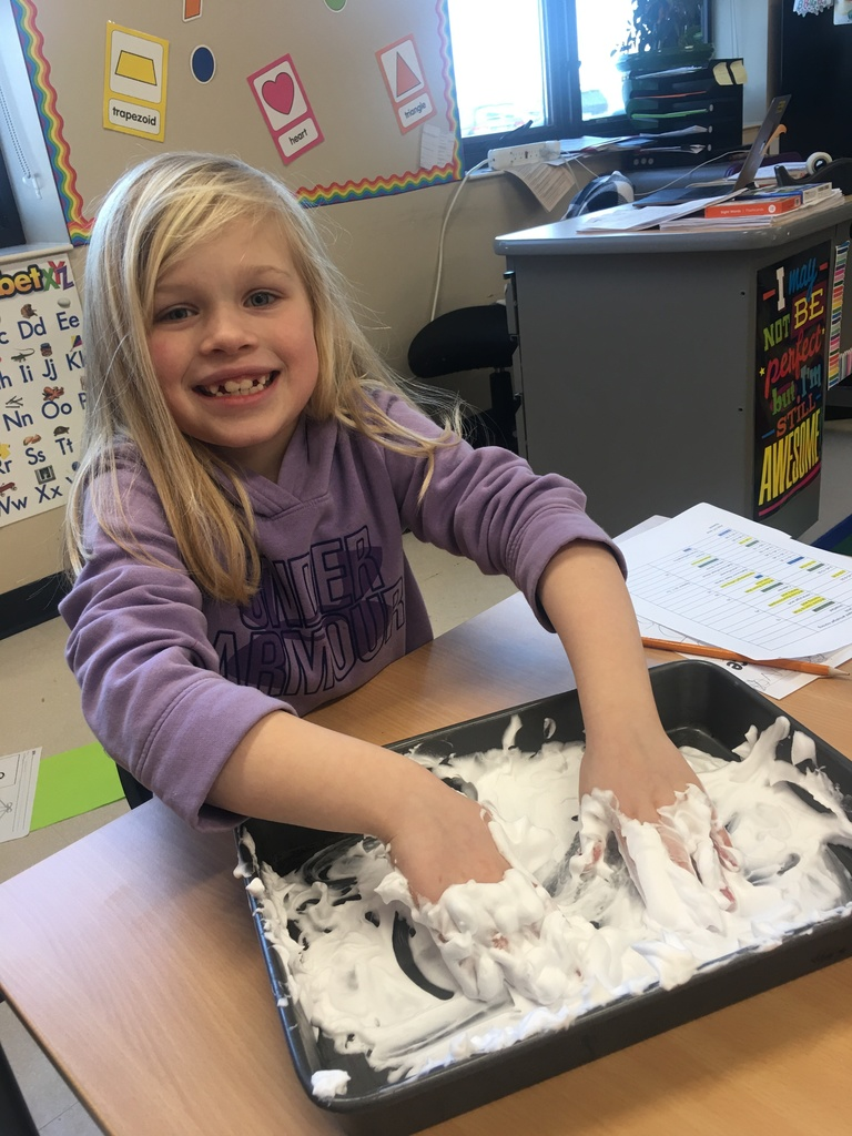 Word Work with shaving cream