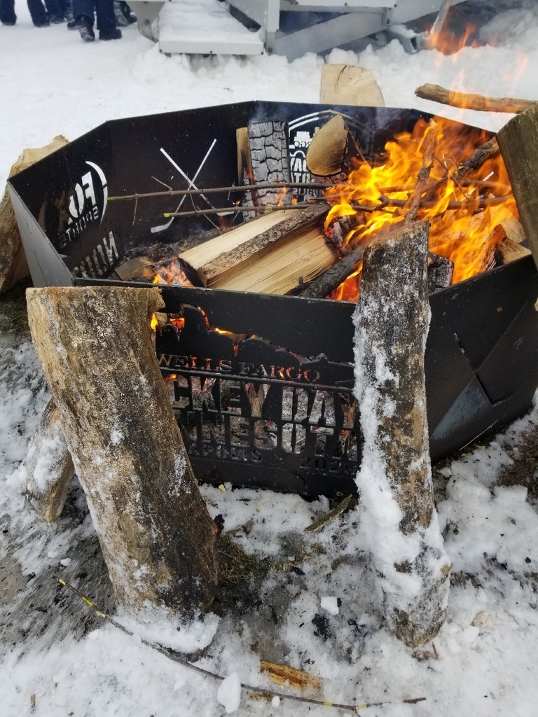 hockey day fire pit