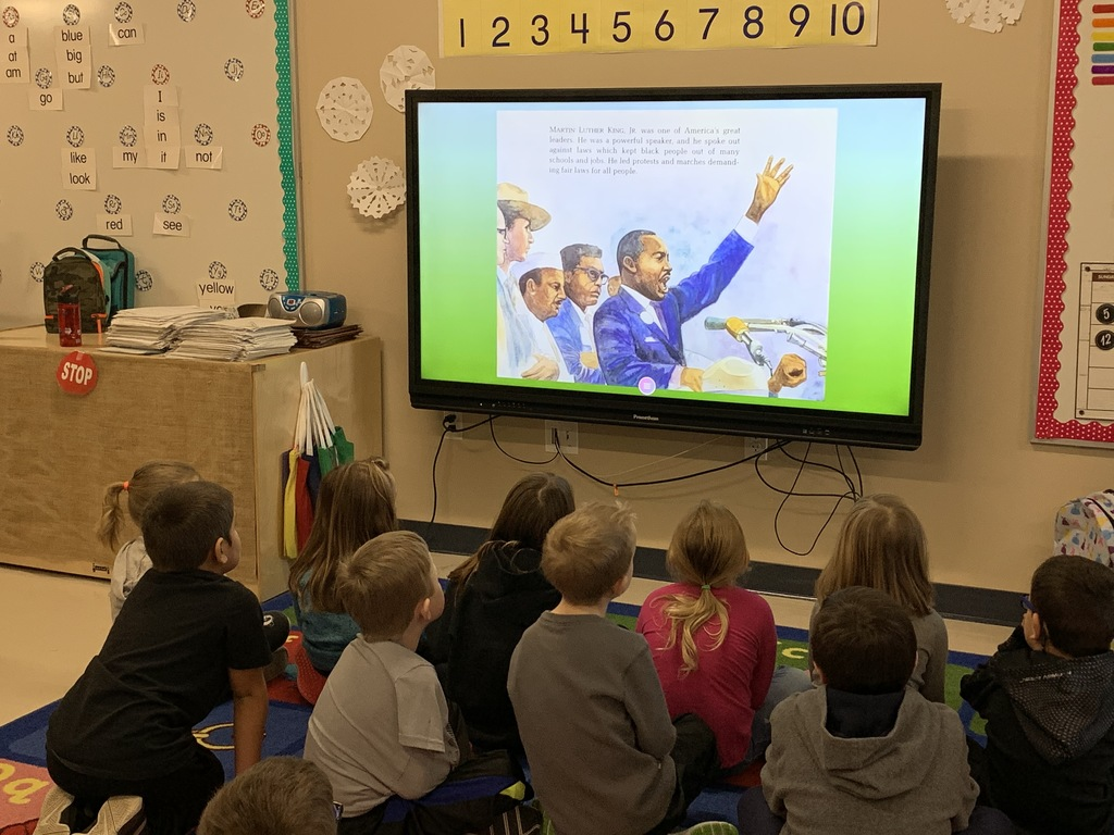 Kindergarten learns about MLK, Jr.