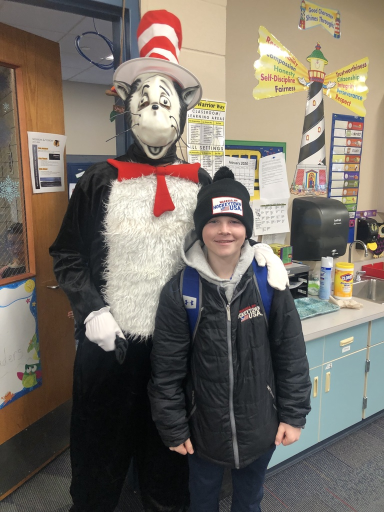 The Cat in the Hat is at Warroad Elementary!