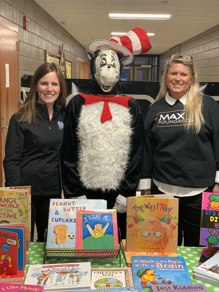 The Cat in the Hat with MAX Foundation representatives