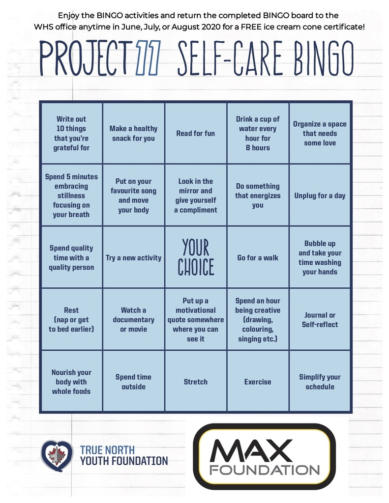 Project 11 BINGO Board