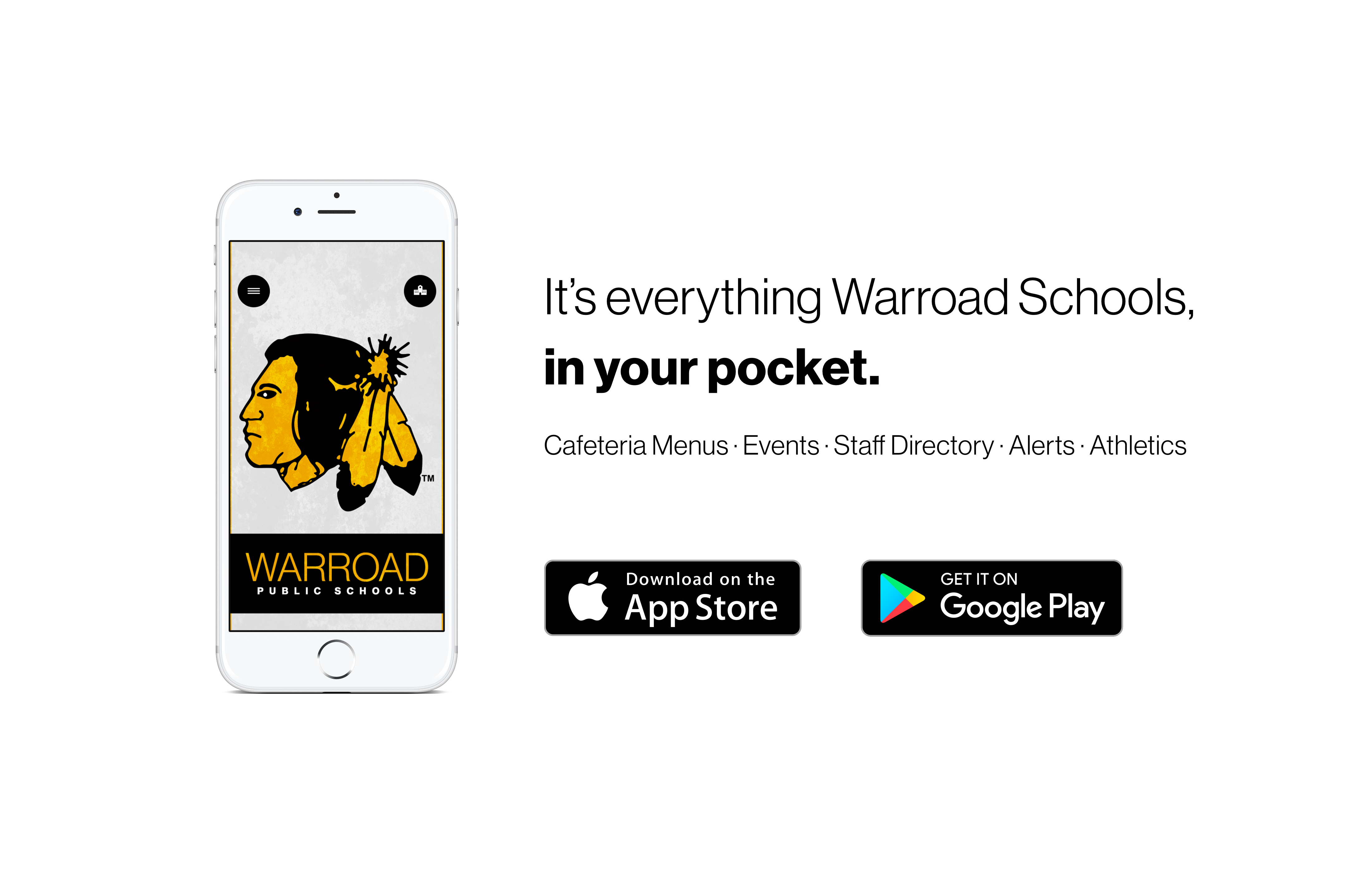 Warroad Schools App advertisement
